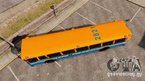 Brute Bus LCPD [ELS] v2.0 для GTA 4 вид справа