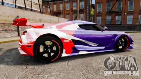 Koenigsegg One:1 для GTA 4 вид слева