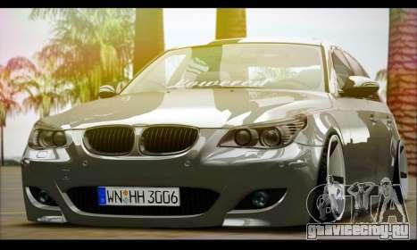 BMW M5 E60 Vossen для GTA San Andreas вид сзади слева