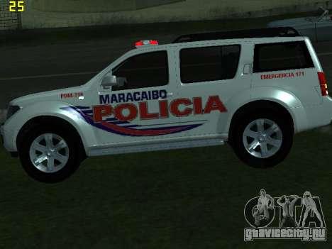 Nissan Pathfinder Polimaracaibo для GTA San Andreas вид сзади