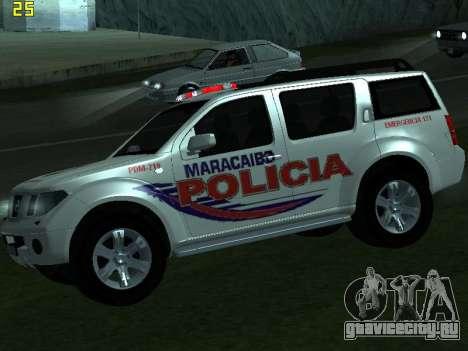 Nissan Pathfinder Polimaracaibo для GTA San Andreas вид справа