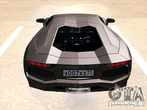 Lamborghini Aventador LP700-4 2013 для GTA San Andreas колёса
