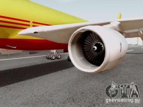 Airbus A340-600F DHL Buffalo для GTA San Andreas вид сзади слева