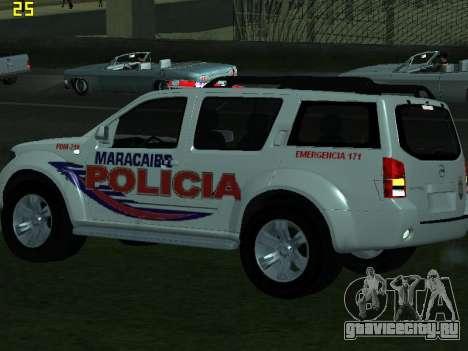 Nissan Pathfinder Polimaracaibo для GTA San Andreas вид изнутри