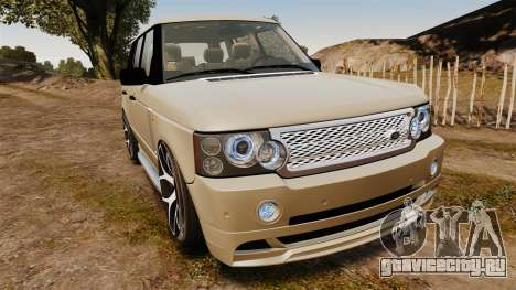 Range Rover Supercharger 2008 для GTA 4