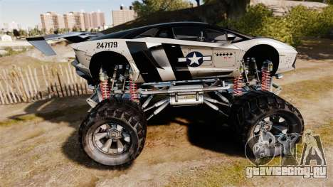 Lamborghini Aventador LP700-4 [Monster truck] для GTA 4 вид слева