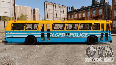 Brute Bus LCPD [ELS] v2.0 для GTA 4 вид слева