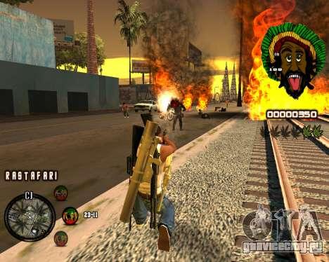 C-HUD Rastafari для GTA San Andreas третий скриншот