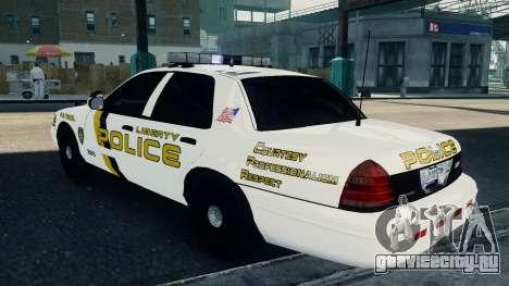 Ford Crown Victoria LCPD [ELS] для GTA 4 вид слева
