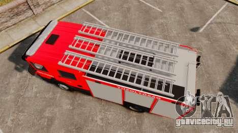 Венгерская пожарная машина [ELS] для GTA 4 вид справа