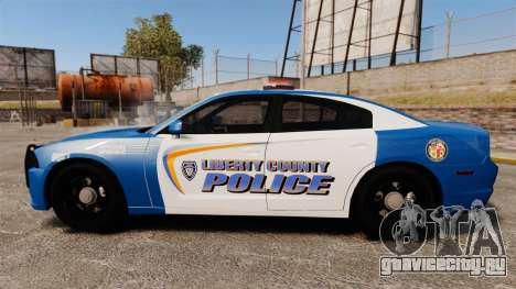 Dodge Charger 2013 Liberty County Police [ELS] для GTA 4 вид слева