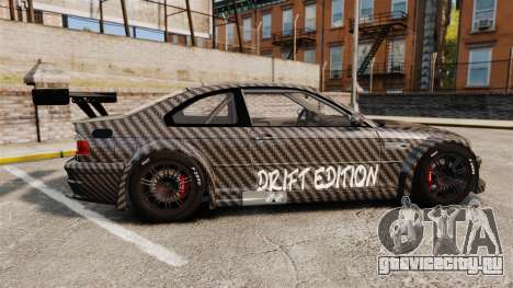 BMW M3 GTR 2012 Drift Edition для GTA 4 вид слева