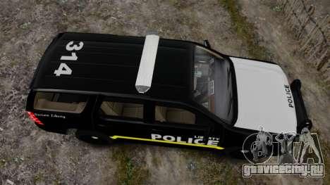 Chevrolet Tahoe 2008 LCPD [ELS] для GTA 4 вид справа