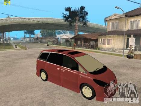 Toyota Estima Altemiss 2wd для GTA San Andreas вид справа