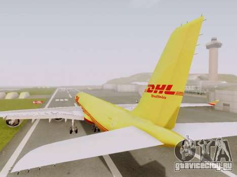 Airbus A340-600F DHL Buffalo для GTA San Andreas вид сзади