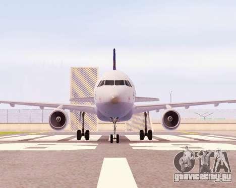 Airbus A320-200 Lufthansa для GTA San Andreas вид слева