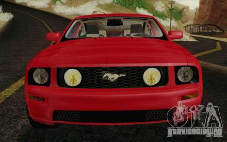 Ford Mustang GT 2005 для GTA San Andreas вид снизу