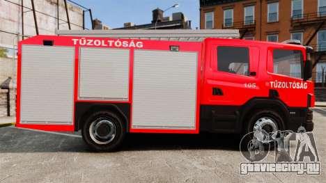 Венгерская пожарная машина [ELS] для GTA 4 вид слева