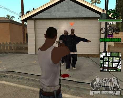 C-Hud Grove Street для GTA San Andreas второй скриншот