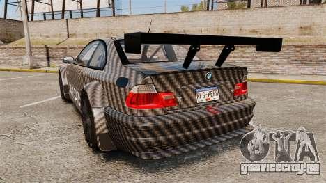 BMW M3 GTR 2012 Drift Edition для GTA 4 вид сзади слева