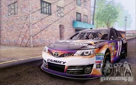 Toyota Camry NASCAR Sprint Cup 2013 для GTA San Andreas вид сзади