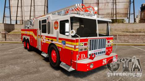 Ferrara 100 Aerial Ladder FDNY [working ladder] для GTA 4
