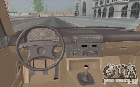 BMW M5 E34 1991 NA-spec для GTA San Andreas вид изнутри