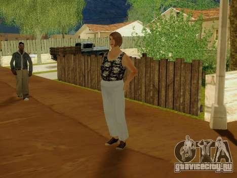 Пожилая женщина v.2 для GTA San Andreas третий скриншот