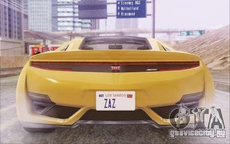 GTA V Dinka Jester IVF для GTA San Andreas вид сбоку