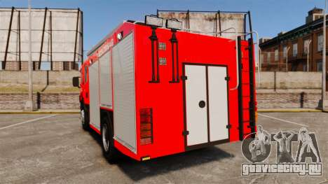 Венгерская пожарная машина [ELS] для GTA 4 вид сзади слева