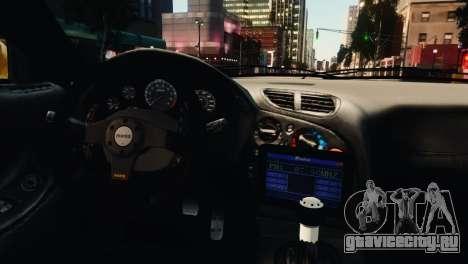 Mazda RX7 Veilside V8 для GTA 4 вид снизу
