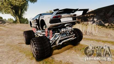 Lamborghini Aventador LP700-4 [Monster truck] для GTA 4 вид сзади слева