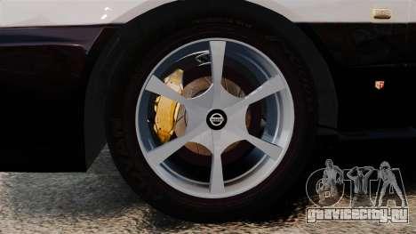 Nissan Skyline ER34 Police для GTA 4 вид сзади