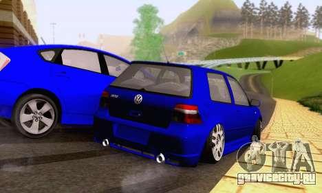 Volkswagen Golf R32 для GTA San Andreas вид сбоку