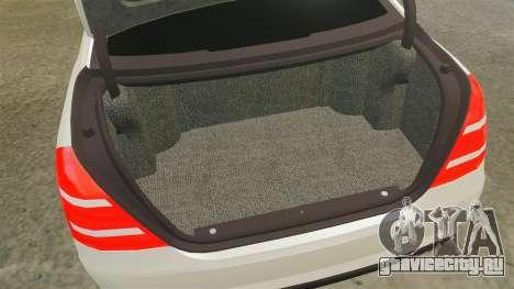 Mercedes-Benz S65 (W221) AMG для GTA 4 вид сбоку