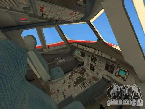 Airbus A320 Avianca Columbia для GTA San Andreas вид снизу