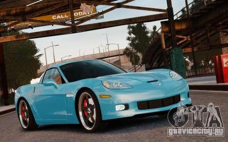 Chevrolet Corvette Grand Sport 2010 для GTA 4 вид сбоку