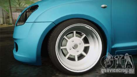 Suzuki Swift Hellaflush для GTA San Andreas вид справа