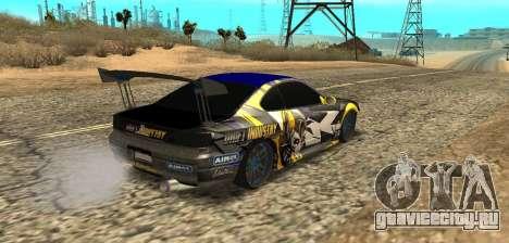 Nissan Silvia S15 Drift Industry для GTA San Andreas вид слева