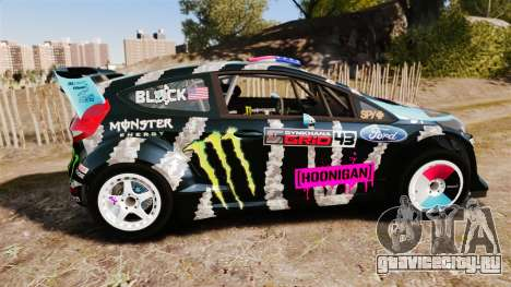 Ford Fiesta RS [Hoonigan] для GTA 4 вид слева