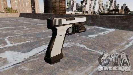 Пистолет Glock 20 Chrome для GTA 4 второй скриншот