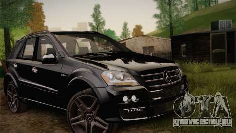 Mercedes-Benz ML63 для GTA San Andreas вид изнутри