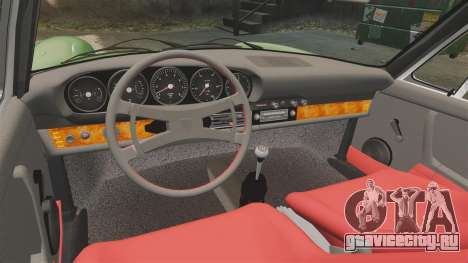 Porsche 911 Targa 1974 для GTA 4 вид изнутри