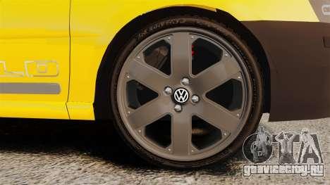 Volkswagen Parati G4 Track and Field 2013 для GTA 4 вид сзади