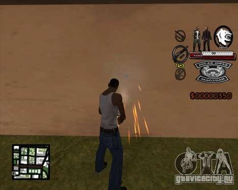 C-HUD Bikers для GTA San Andreas второй скриншот