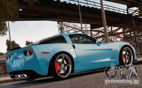 Chevrolet Corvette Grand Sport 2010 для GTA 4 вид снизу