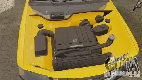 Volkswagen Parati G4 Track and Field 2013 для GTA 4 вид изнутри