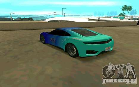 GTA V Dinka Jester для GTA San Andreas вид сзади слева