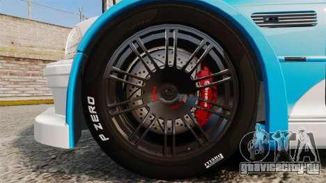 BMW M3 GTR 2012 Most Wanted v1.1 для GTA 4 вид сзади