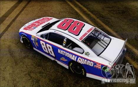 Chevrolet SS NASCAR Sprint Cup 2013 для GTA San Andreas вид сзади слева